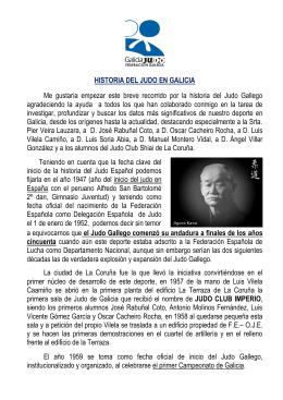 historia del judo en galicia