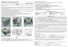 Termostato de Ambiente Digital - Manual