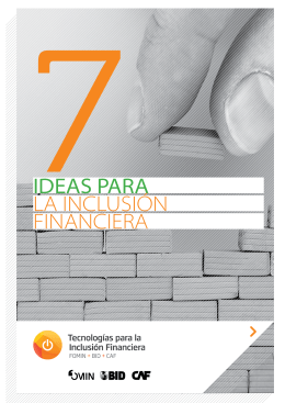7 ideas para la inclusión financiera