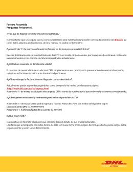 Factura Resumida Preguntas Frecuentes.
