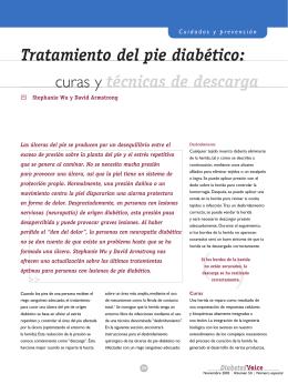 Tratamiento del pie diabético: curas y técnicas de descarga