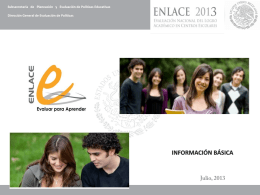 Descargar presentación Información Básica ENLACE