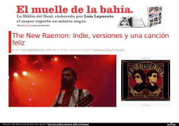 The New Raemon: Indie, versiones y una canción feliz | Efe Eme