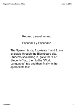 The Spanish texts, Exprésate 1 and 2, are available through the