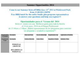 Summer Opportunities 2011