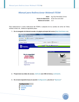 Manual para Redireccionar Webmail ITESM