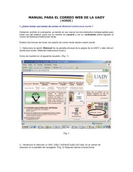 manual para el correo web de la uady - riuady