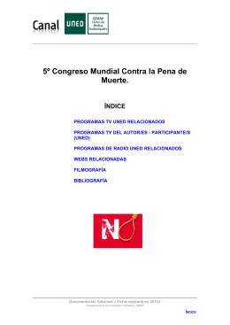 5º Congreso Mundial Contra la Pena de Muerte.