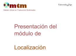 Presentación del módulo de Localización