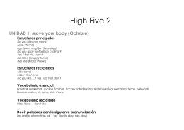 contenidos de high five 2