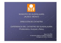 Experiencia del Catastro de Guadalajara