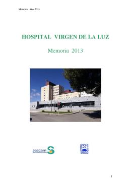 HOSPITAL VIRGEN DE LA LUZ Memoria 2013