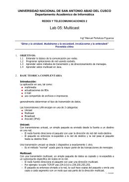 Lab 05: Multicast - Universidad Nacional de San Antonio Abad del