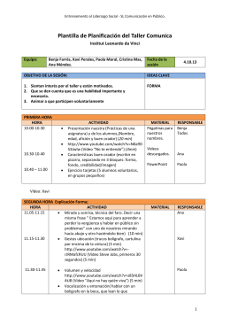 Plantilla de Planificación del Taller Comunica