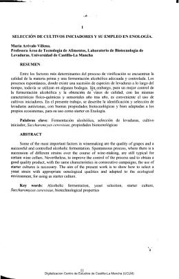 Selección de cultivos iniciadores y su empleo en Enología