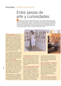 Entre piezas de arte y curiosidades