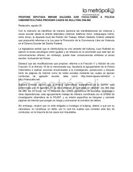 PROPONE DIPUTADA MIRIAM SALDAÑA DAR FACULTADES A