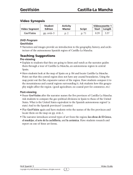 Video Guide, pp. 1–2 - Harcourt (Social Studies)