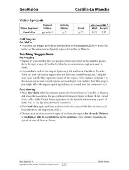 Video Guide, pp. 1–2 - Harcourt (Social Studies)