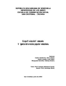 Grupo Raíces de Venezuela - Servidor web opsu