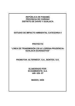 república de panamá provincia de chiriquí distrito de david