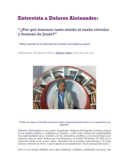 Entrevista a Dolores Aleixandre: