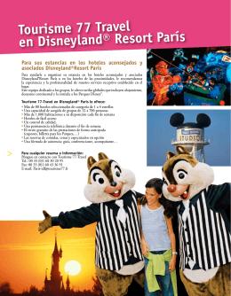 Tourisme 77 Travel en Disneyland® Resort París