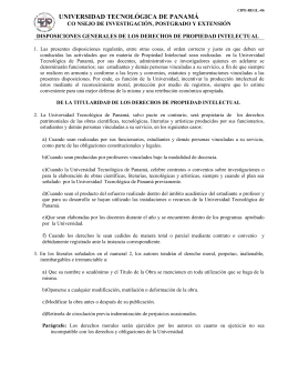 Disposiciones Generales de los Derechos de Propiedad Intelectual