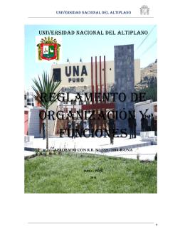 ROF - Universidad Nacional del Altiplano