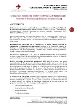 Comisión de Vinculación con la Colectividad y el Medio Externo