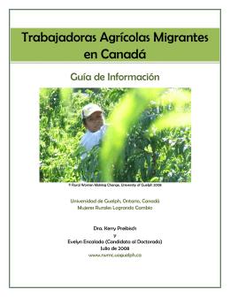 Trabajadoras Agrícolas Migrantes en Canadá
