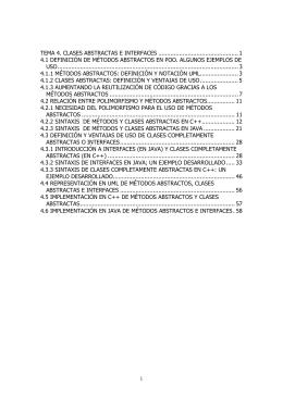 TEMA 4. CLASES ABSTRACTAS E INTERFACES