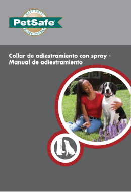 Collar de adiestramiento con spray - Manual de
