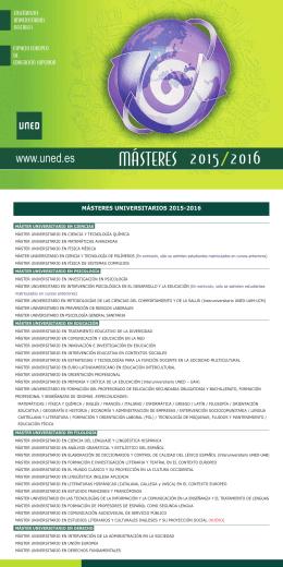 Folleto informativo 2015/2016
