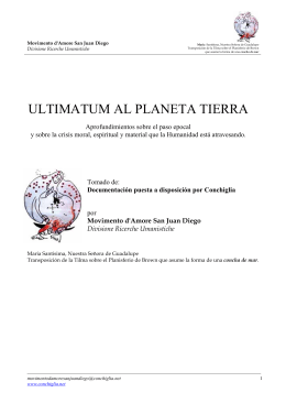 ultimatum al planeta tierra - Conchiglia