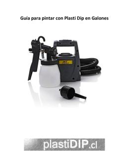 Guía para pintar con Plasti Dip en Galones