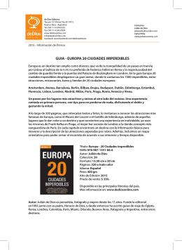 GUIA - EUROPA 20 CIUDADES IMPERDIBLES
