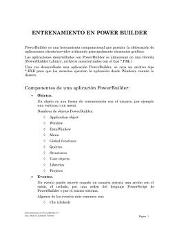 Entrenamiento PowerBuilder 6.5 Parte I