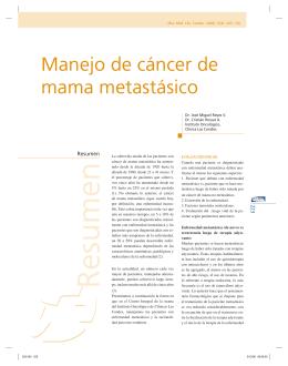 Manejo de cáncer de mama metastásico