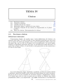 Geometría proyectiva. Cónicas y Cuádricas