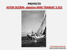 AITOR OCERIN-Iparbeltz 858 OBJETIVO MINI TRANSAT 2015