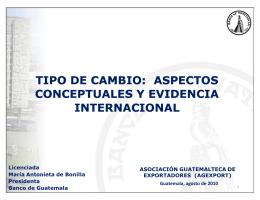 Tipo de Cambio - Banco de Guatemala