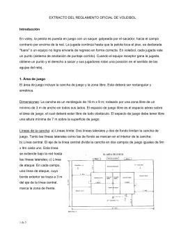 EXTRACTO DEL REGLAMENTO OFICIAL DE VOLEIBOL
