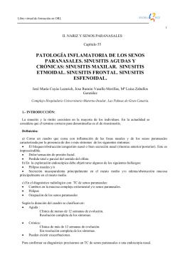 patología inflamatoria de los senos paranasales. sinusitis