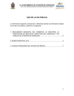 USO DE LA VÍA PÚBLICA - Atizapán de Zaragoza