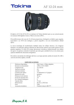 Tokina AF 12-24 sin motor