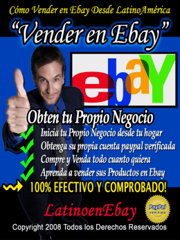 Como Vender En Ebay - Guia Paypal Mundial