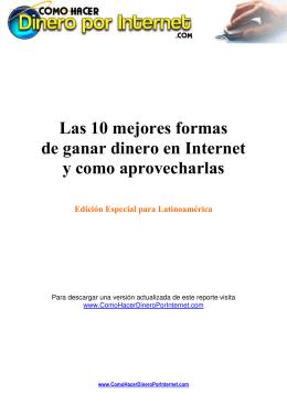 Reporte - 10 formas de ganar dinero en internet