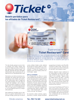 Articulo Ticket Restaurant