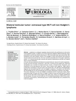 Bilateral testicular tumor: extranasal type NK/T-cell non